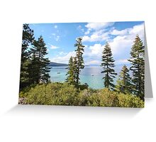 Mount Tallac trailhead overlooking lake Tahoe, California, USA Greeting Card