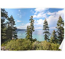 Mount Tallac trailhead overlooking lake Tahoe, California, USA Poster