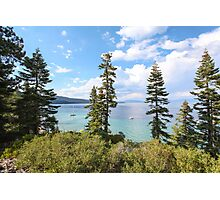 Mount Tallac trailhead overlooking lake Tahoe, California, USA Photographic Print