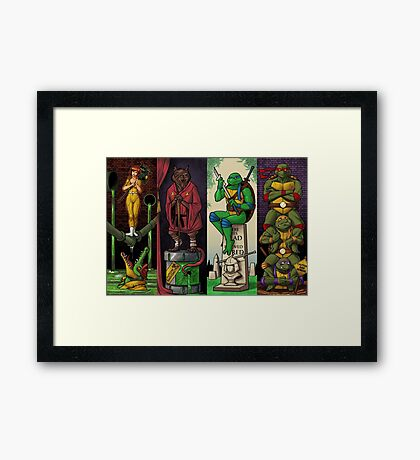 The Haunted Sewer Framed Print