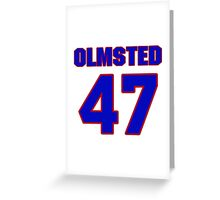 National baseball player Al Olmsted jersey 47 Greeting Card