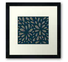 blossom (blue/gray) Framed Print