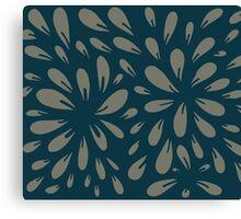 blossom (blue/gray) Canvas Print
