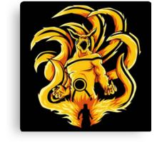 Kurama Fire Naruto Canvas Print