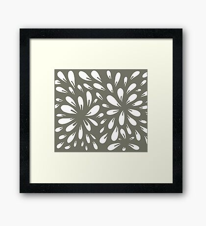blossom (gray) Framed Print