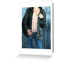 Leather And Tatoo Greeting Card