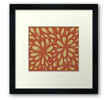 blossom (orange/gold) Framed Print