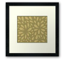 blossom (gold) Framed Print