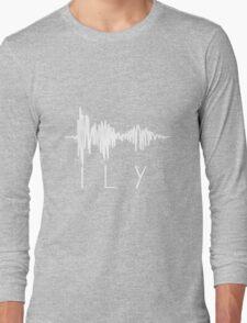 I Love You Sound Wave Long Sleeve T-Shirt