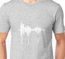 I Love You Sound Wave Unisex T-Shirt