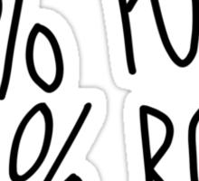 100% Punk Rock Sticker