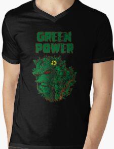 GREEN POWER Mens V-Neck T-Shirt
