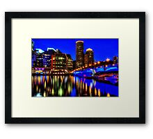 Night of Blue - Fort Point Channel, Boston Framed Print