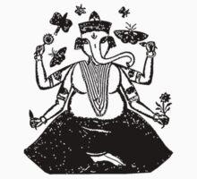 Ganesh Stamp Art One Piece - Short Sleeve