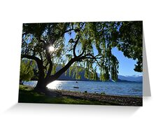 Beautiful Things and Tire Swings Greeting Card