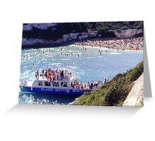 Glass Bottom Boat Greeting Card
