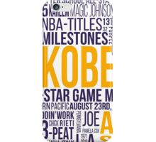 Los Angeles Lakers - Kobe Bryant Typography Design  iPhone Case/Skin