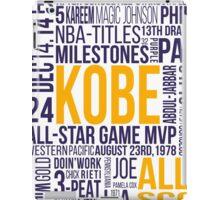 Los Angeles Lakers - Kobe Bryant Typography Design  iPad Case/Skin