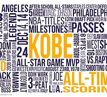 Los Angeles Lakers - Kobe Bryant Typography Design  by Givens87