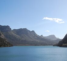 Reservoir in Mallorcan mountains by adyb