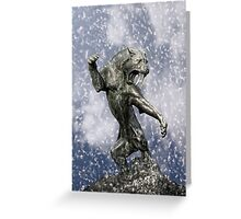 primitive times fighter Greeting Card