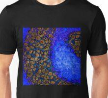 Blue Indigo Brown Cells Unisex T-Shirt