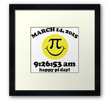 Funny Limited Edition Smiley Face Happy Pi Day 2015 T-Shirt and Gifts Framed Print