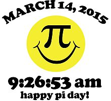 Funny Limited Edition Smiley Face Happy Pi Day 2015 T-Shirt and Gifts Photographic Print
