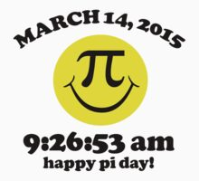 Funny Limited Edition Smiley Face Happy Pi Day 2015 T-Shirt and Gifts by Albany Retro