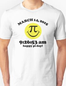 Funny Limited Edition Smiley Face Happy Pi Day 2015 T-Shirt and Gifts T-Shirt