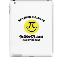 Funny Limited Edition Smiley Face Happy Pi Day 2015 T-Shirt and Gifts iPad Case/Skin