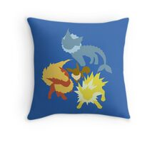 Eevee (Vaporeon - Jolteon - Flareon) Throw Pillow