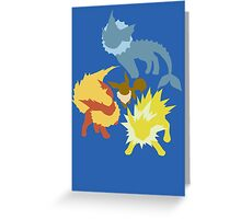 Eevee (Vaporeon - Jolteon - Flareon) Greeting Card