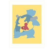 Squirtle - Wartortle - Blastoise Art Print