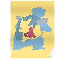 Squirtle - Wartortle - Blastoise Poster