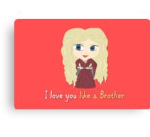 Game of Thrones Valentines: Cersei's Insest Canvas Print