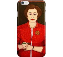 M de Lourdes Pintasilgo -The sky is my roof, the earth my country and freedom my religion  iPhone Case/Skin