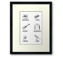 Friends Characters Framed Print