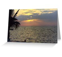 SUNSET ON THE CARIBBEAN SEA Greeting Card