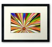 Psychedelic Daisy Framed Print