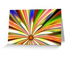 Psychedelic Daisy Greeting Card
