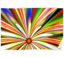 Psychedelic Daisy Poster