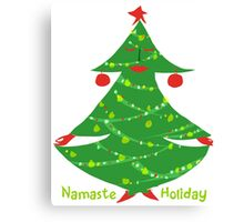 Namaste Holiday Canvas Print