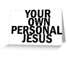 Personal Jesus Greeting Card