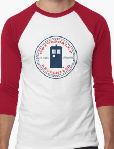 Doctor Who - Converse Logo with Quote Men's Baseball ¾ T-Shirt