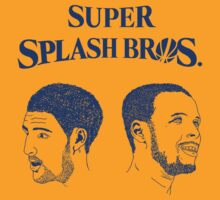 Golden State Warriors Super Splash Bros. - Stephen Curry and Klay Thompson - Blue by EBAYman