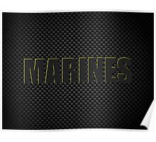 Marines Carbon Fibre iPhone / Samsung Galaxy Case Poster