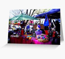 """""""Salamanca Market . ."""" Greeting Card"""