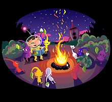 Nintendo Pikmin and Olimar Campfire by Chantal Moosher