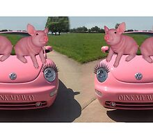 CUTE PINK PIGS ON PINK VOLKS WAGON CAR MUG OINK OINK by ✿✿ Bonita ✿✿ ђєℓℓσ